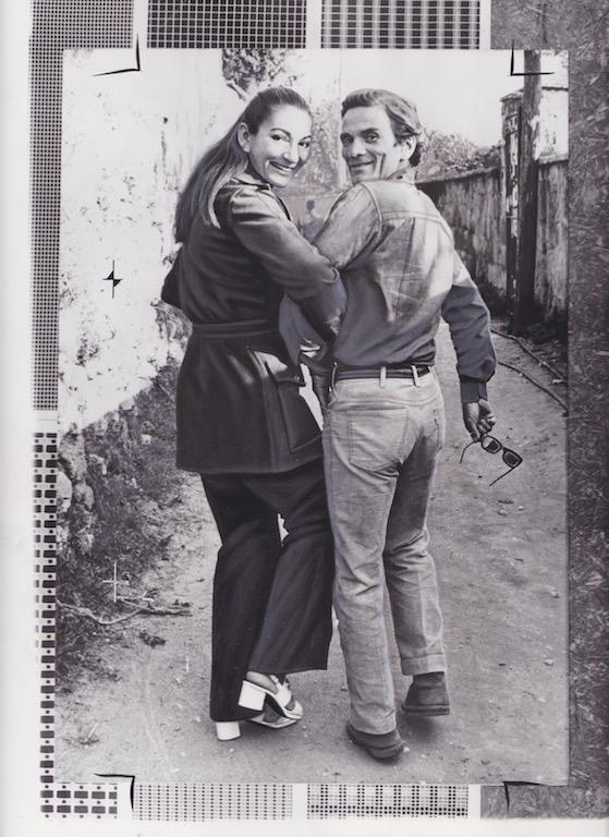 avec Pasolini apres le tournage de MeÅdeÅe 1970 Copyright Mario Tursi